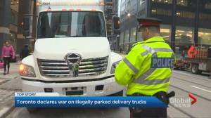 Toronto police to crack down on delivery trucks parked illegally during rush hour