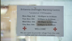 Vancouver opens warming centres amid cold snap