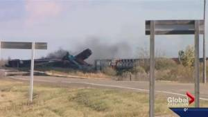 Broken rail cause of Clair, Sask. CN freight train derailment