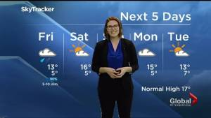 Rain overnight, clearing for the weekend