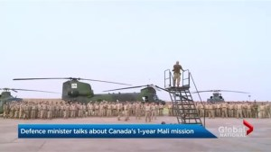 Defence Minister discusses Canada's Mali mission