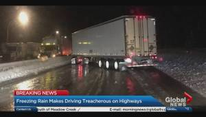 Hundreds stranded on Coquihalla Highway overnight, forced to sleep in their cars
