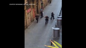 Armed police patrol streets following attack in Barcelona