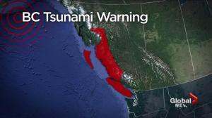 Early morning tsunami warning sends coastal BC residents in search of higher ground