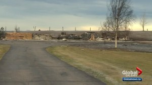 2 homes destroyed by grass fire near Highway 2