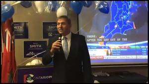 Ontario Election: PC Dave Smith thanks supporters for win in Peterborough-Kawartha
