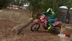 Global's motocross rookie Brendan Parker jumps on bike for first time to try Red Bull Rocks and Logs