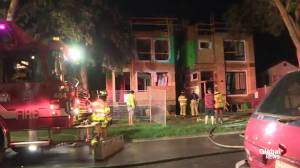 Fire at under-construction infill homes in McKernan neighbourhood