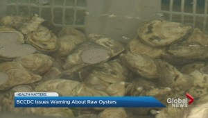 Centre for Disease Control issues oyster warning