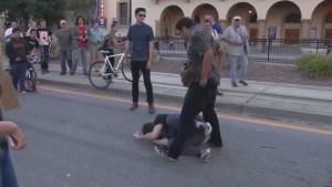 Violent protests erupt outside Trump rally in San Jose
