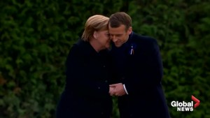 Powerful show of unity from Merkel, Macron to mark centenary of the end of WWI