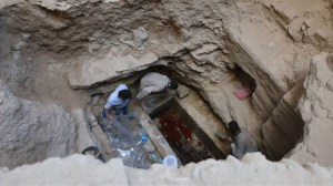 Scientists find 3 skeletons inside ancient sarcophagus