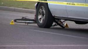 12 year old boy is in critical condition after being struck by a van