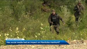 Is social media helping or harming the Manitoba manhunt? (03:26)