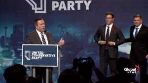 Jason Kenney thanks Doug Schweitzer for bringing 'fresh voice' to leadership race