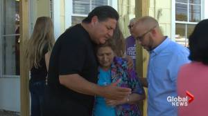 Texas church shooting: Residents comfort each other after shooting