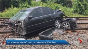 Car collides with GO train in Mississauga