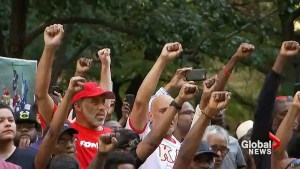 Rally held outside NFL office in New York for 'modern day Muhammad Ali,' Colin Kaepernick
