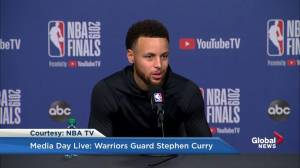 Steph Curry says he's glad Toronto Raptors finally 'got over the hump'