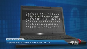 Phishing scam spoofing familiar websites to fool you