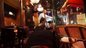 Panicked people crowd and huddle in restaurant as false alarms creates chaos in Paris