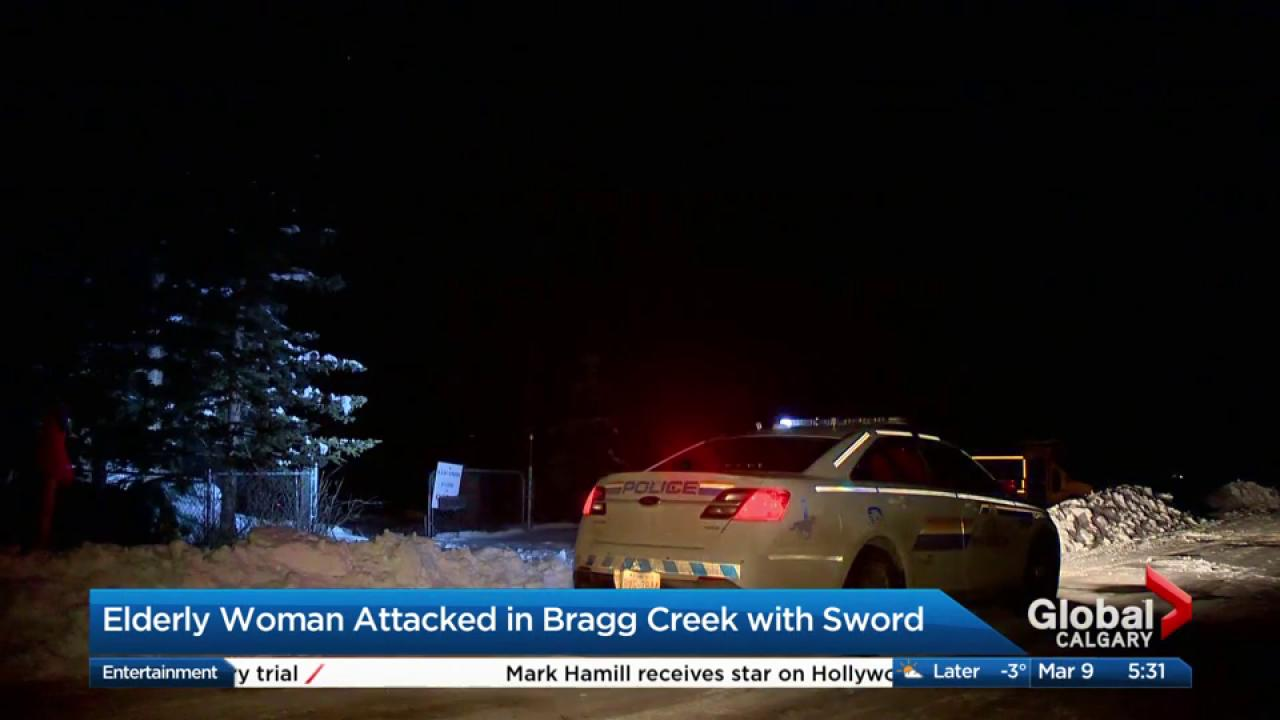 Elderly woman in hospital after sword attack in Bragg Creek home