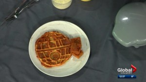 Chef Quinn Staple creates Death Star waffles in honour of Calgary comic expo
