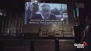 Video of Boris Johnson describing Trump's 'stupefying ignorance' projected into Big Ben