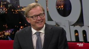 Education Minister David Eggen on first day back to school