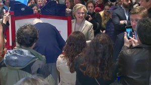 New York goes to Clinton while Trump takes Texas; waits for key states