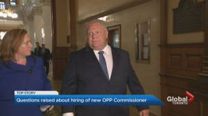 Doug Ford says he had no role in appointment of new OPP commissioner (02:30)