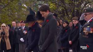 Prime Minister Justin Trudeau lays wreath for Remembrance Day