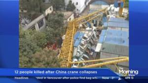 12 people killed after crane collapses in China