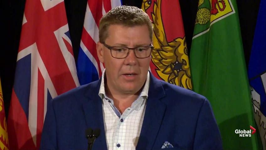 Saskatchewan Premier Scott Moe talks inter-provincial trade