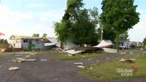 Trailer park in southwestern Ontario sees extensive damage after storm