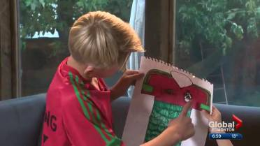 e3a9a9b29f1 Adidas turns Edmonton boy s drawings into custom-designed soccer jersey