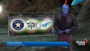 Rob Leth dresses as Yondu from 'Guardians of the Galaxy' for Halloween 2017