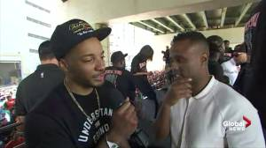 Raptors victory parade: Norman Powell says he's happy to bring NBA championship to Canada