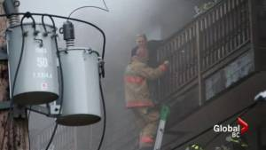 Daring rescues after North Vancouver apartment goes up in flames