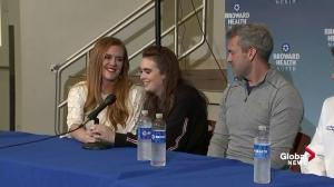 Florida school shooting victim tearfully thanks doctors for saving her life