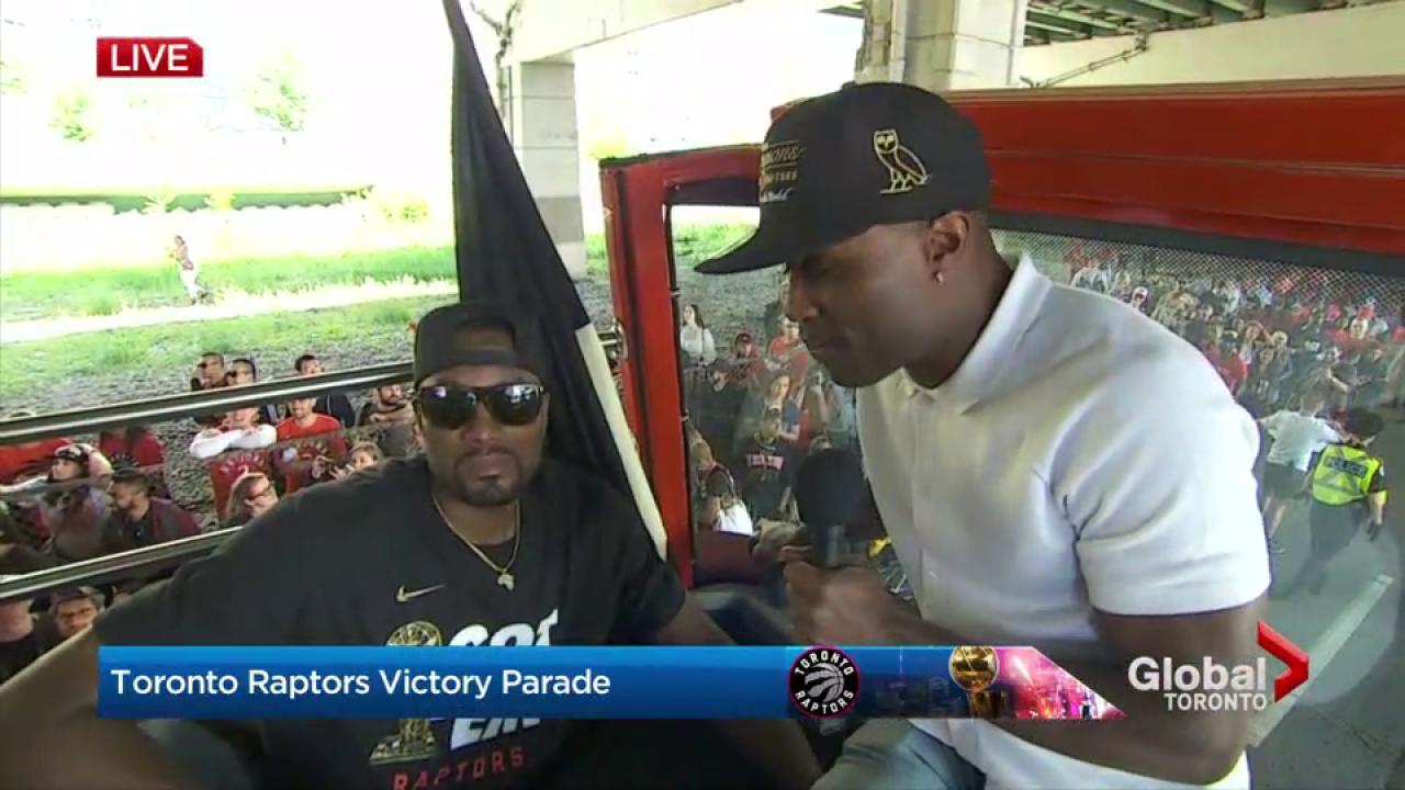 Raptors victory parade: Serge Ibaka says Raptors fans are 'amazing'