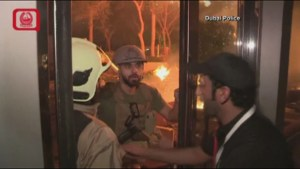 Video released by police shows evacuation, fire raining down from Dubai building fire