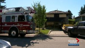 Calgary house fire under investigation by arson unit