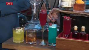 Fairmont Hotel Macdonald mixing up creative cocktails at Stamps House
