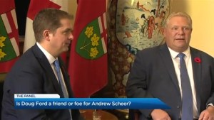Is Doug Ford a friend or foe to Andrew Scheer?