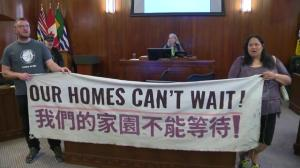 Activists storm City of Vancouver council chambers