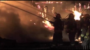 Blaze destroys  historic P.G. Towns and Sons General Store in Douro