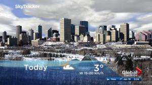 Edmonton early morning weather forecast: Friday, January 19, 2018