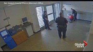 California correctional officer caught on camera hitting cuffed suspect