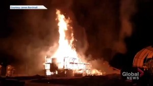 Massive fire rips through under-construction condo in Cochrane, leads to evacuations